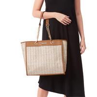 Cassie Raffia Shopper Tote Bag