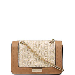 Crisp Raffia Chain Cross Body Bag