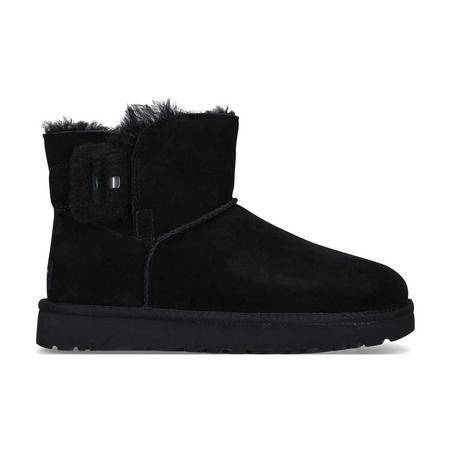 Mini Bailey Fluff Buckle Ankle Boot