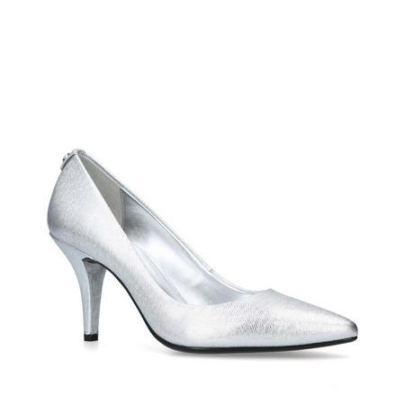 MK Flex Mid Pump Court Shoe Silver-Tone
