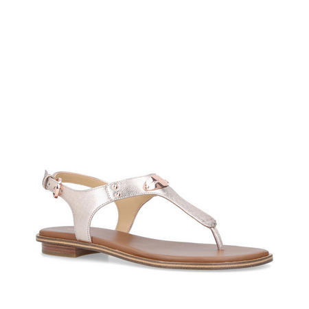 MK Plate Thong Sandal Pink