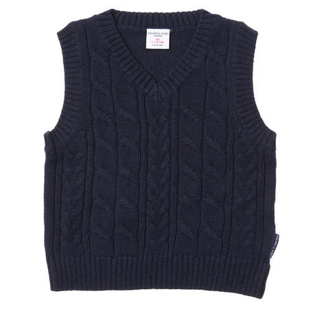 Baby Boys Cable Knit Tank Top Blue
