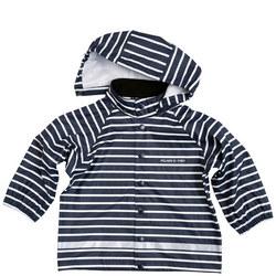 Babies Striped Raincoat Blue