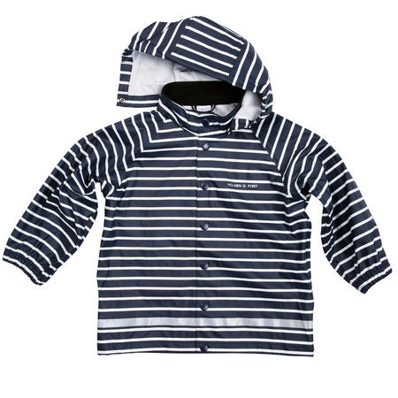 Kids Striped Raincoat Blue