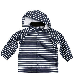 Kids Striped Raincoat Blue