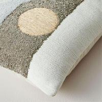 Embellished Deco Contours 30cm X 53cm Pillow Cover Neutral