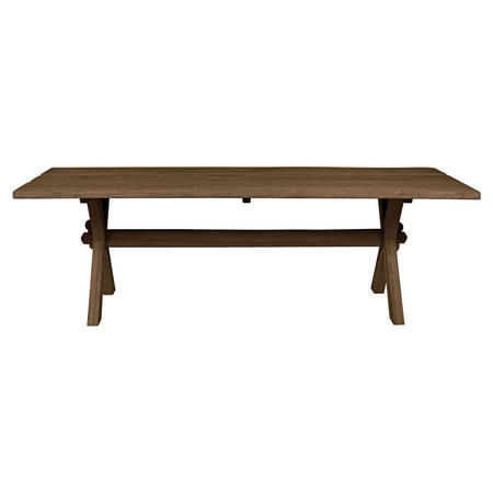 Copenhagen Dining Table (Cross Leg) Brown