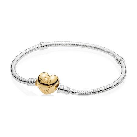 Moments Silver Bracelet, PANDORA Shine Heart