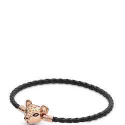 Moments Woven Leather Bracelet,