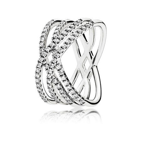 Cosmic Lines Ring Silver