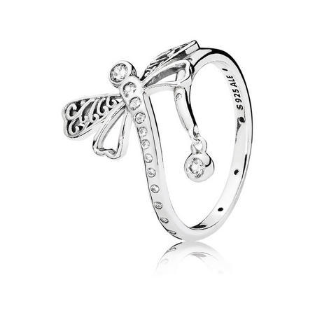 Dreamy Dragonfly Ring Silver
