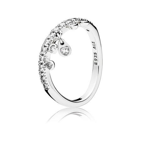 Chandelier Droplets Ring Silver