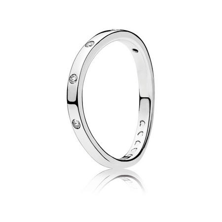 Swirling Droplets Ring Silver
