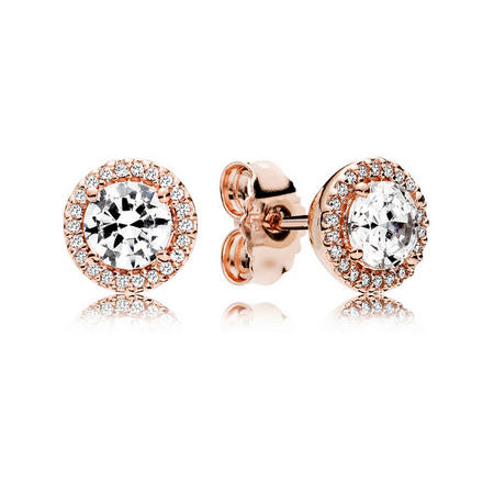 Classic Elegance Earrings Rose Gold