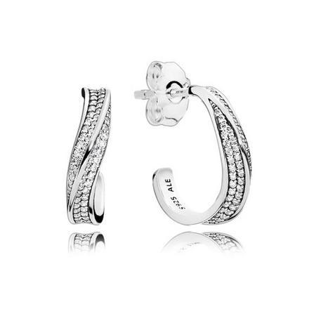 Elegant Waves Earrings Silver