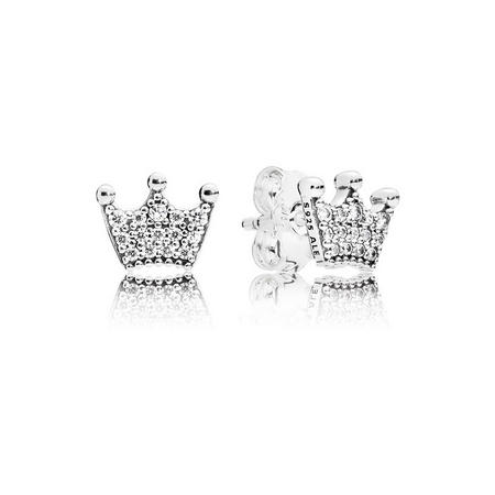 Enchanted Crowns Earrings Silver