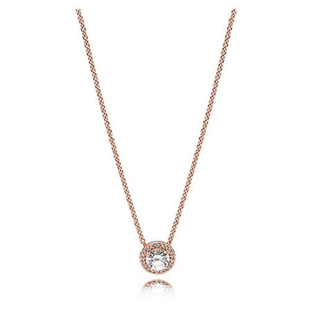 Classic Elegance Necklace Clear