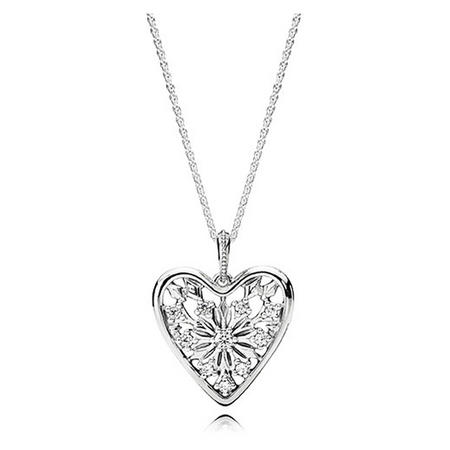 Heart Of Winter Necklace Clear
