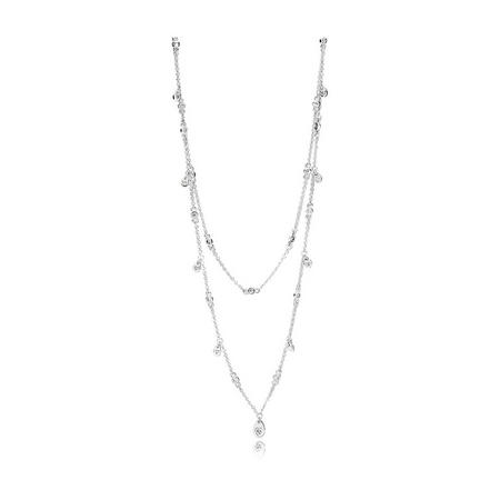 Chandelier Droplets Necklace Silver