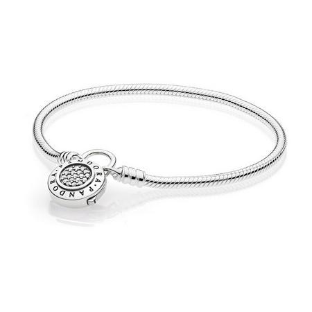 Moments Pandora Signature Padlock Bracelet Silver