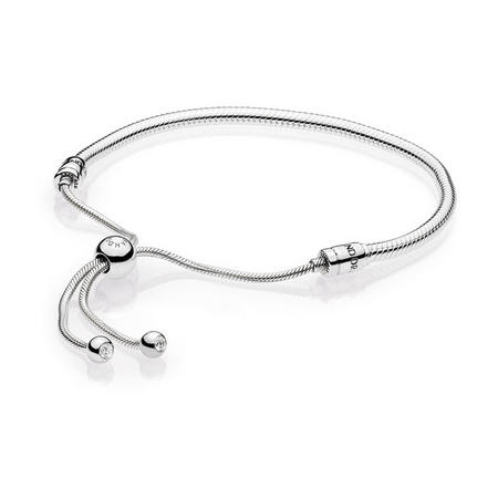 Moments Silver Sliding Bracelet Clear