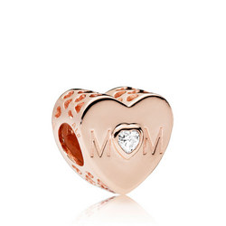Mother Heart Charm Rose
