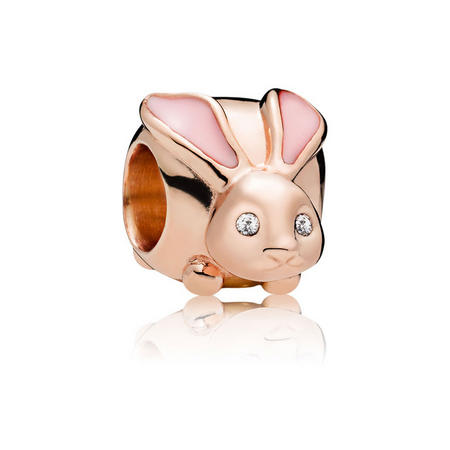 Cute Bunny Charm Pink Rose Gold