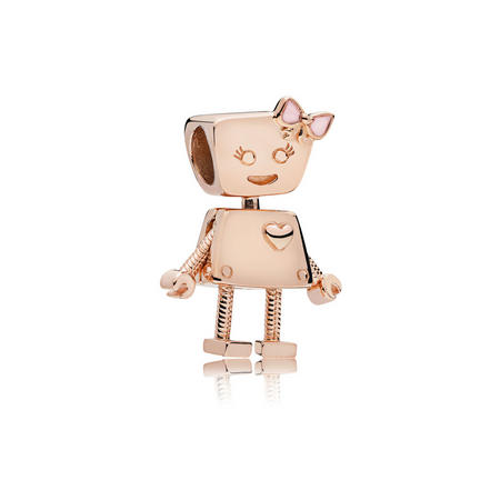 Bella Bot Charm Pink Rose Gold