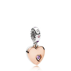 Part of My Heart Charm Pink