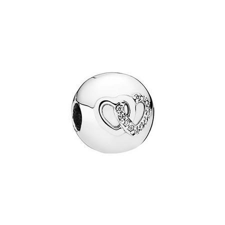 Heart Bond Charm Silver