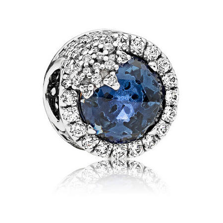 Dazzling Snowflake Charm Blue