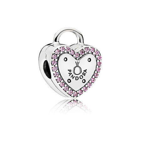 Lock Your Promise Charm Pink