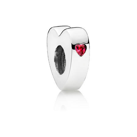 Two Hearts Charm Red