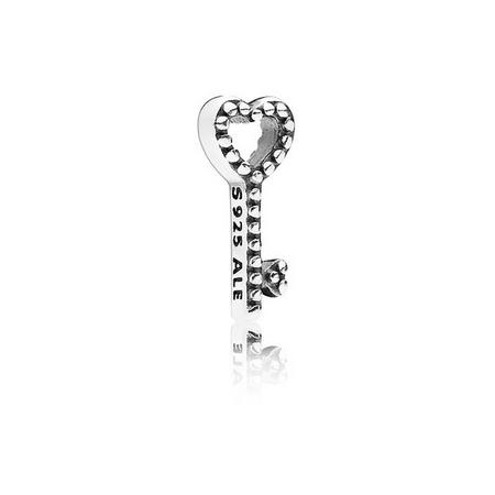 Heart Key Petite Charm Silver