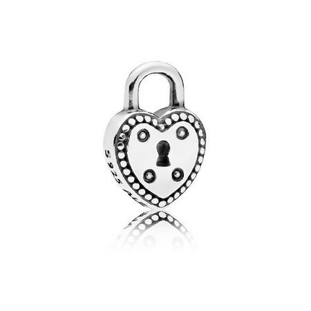 Love Lock Petite Charm Silver