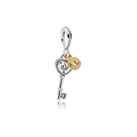 Key to My Heart Charm Silver