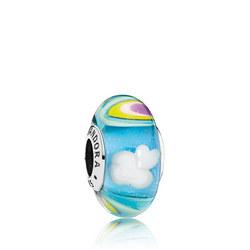 Iridescent Rainbow Glass Charm Multicolour