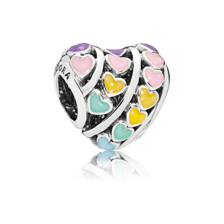 Multi-Colour Hearts Charm Multicolour
