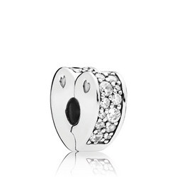 Sparkling Arcs Of Love Charm Silver