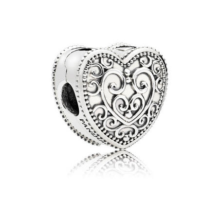 Enchanted Heart Charm Silver