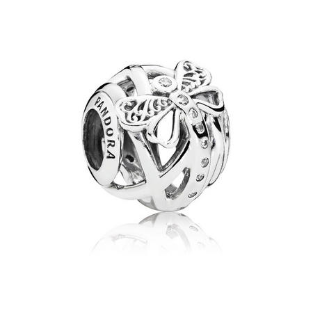 Dreamy Dragonfly Charm Silver