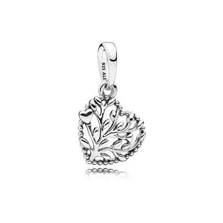Flourishing Hearts Charm Silver