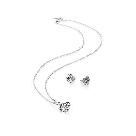 Flourishing Hearts Necklace and Earring Gift Set