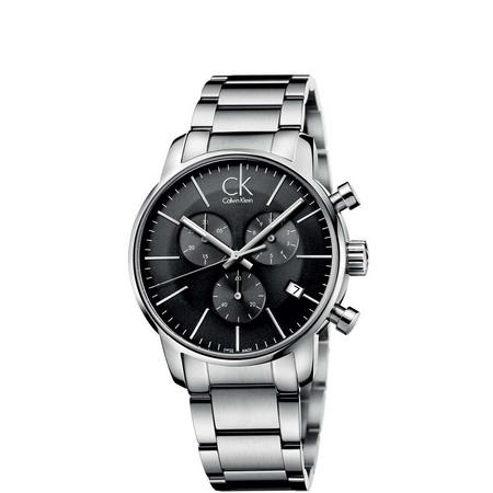 City Cool Grey Dial Watch Silver-Tone