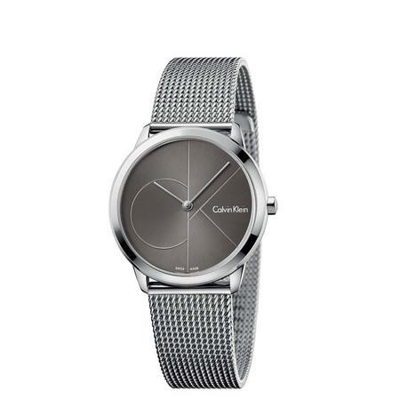 Minimal Black Dial Watch Silver-Tone