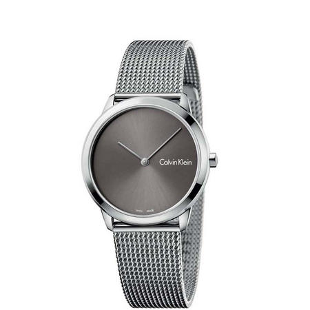 Minimal Grey Dial Watch Silver-Tone