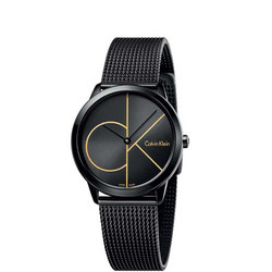 Minimal Black Dial Watch Black