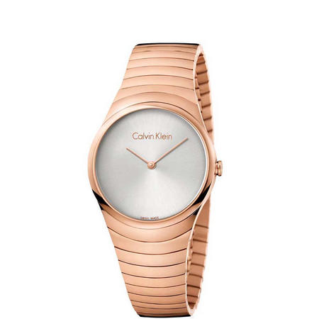 Whirl Silver Dial Watch Rose-Tone