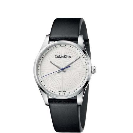 Steadfast Silver Dial Watch Silver-Tone