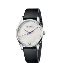 Steadfast Silver Dial Watch Silver-Tone